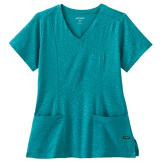 Plus Size Jockey Scrubs Classic Solid Illusion Top