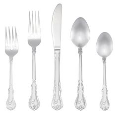 RiverRidge Home Bouquet 46-pc. Monogram Flatware Set