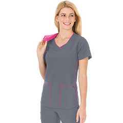Women's Jockey Scrubs Classic Sporty V-Neck Top