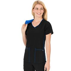Plus Size Jockey Scrubs Classic Sporty V-Neck Top