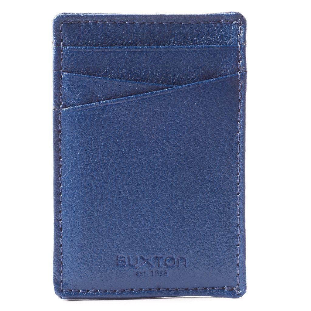 Buxton Addison RFID-Blocking Leather Front-Pocket Wallet with Money Clip