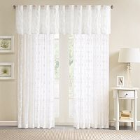 Madison Park Kida Sheer Embroidered Window Valance - 50'' x 18''