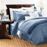 Chaps Damask Stripe 500 Thread Count Duvet Cover Set