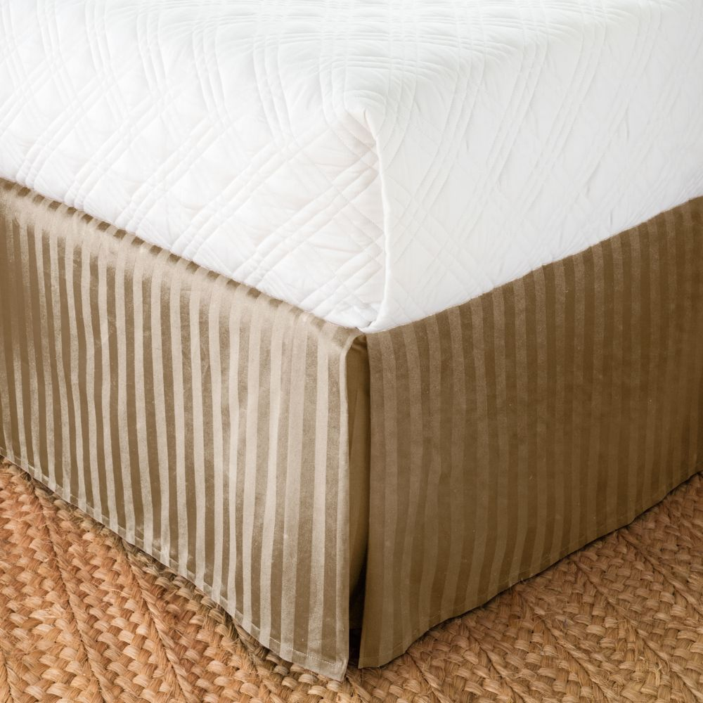 damask stripe bed skirt