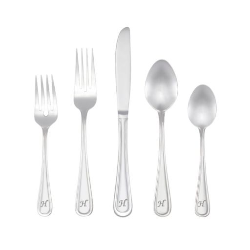 RiverRidge Home Marina 46-pc. Monogram Flatware Set