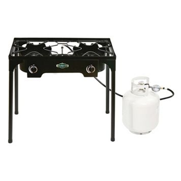 Stansport 2-Burner Outdoor Stove with Stand