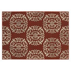 StyleHaven Harrison Botanical Delight Medallion Rug