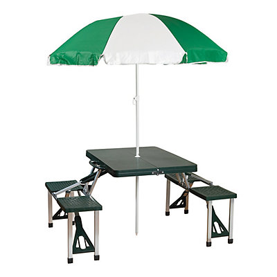Stansport Portable Picnic Table with Umbrella
