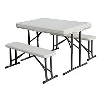 Stansport Folding Table with Bench Seats
