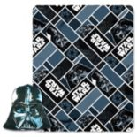 Star Wars 2-piece Big Mask Darth Vader Pillow & Throw Set
