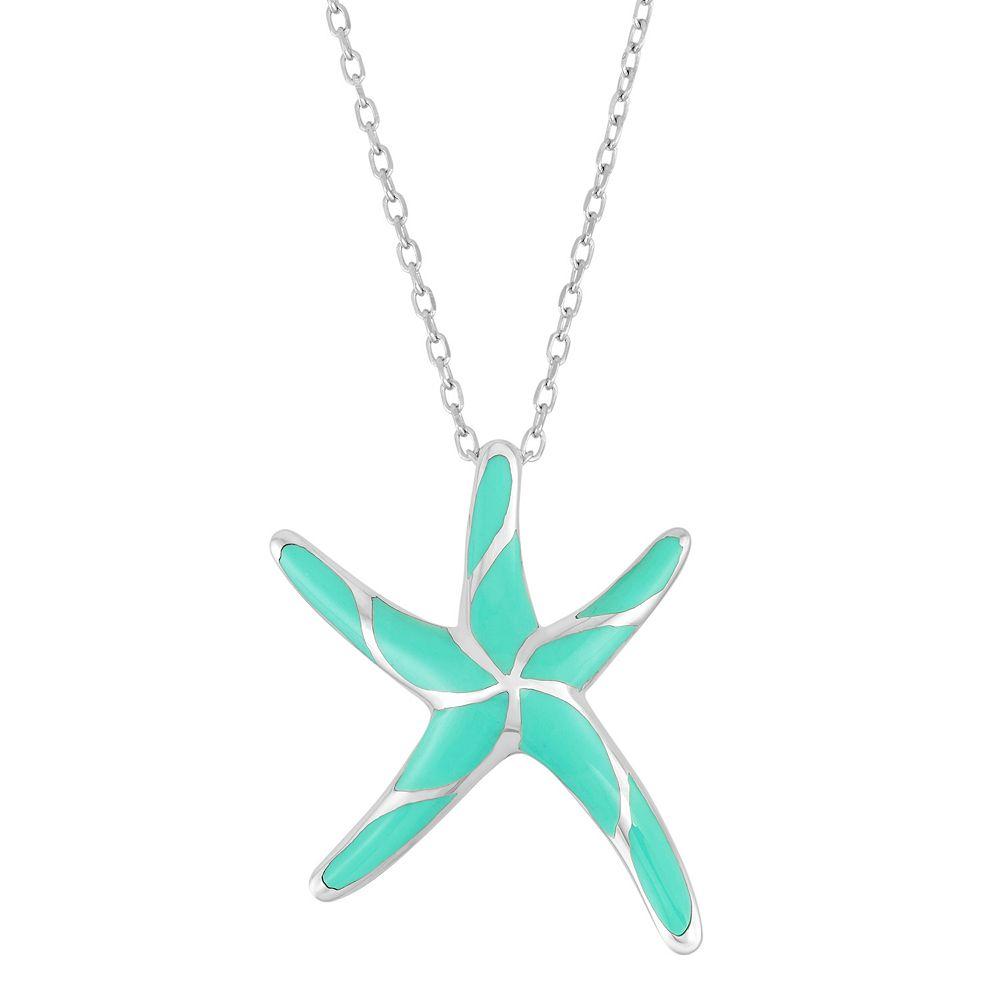 Sterling silver starfish pendant necklace aloadofball Choice Image