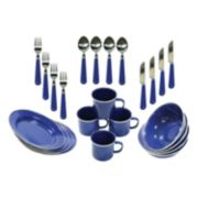 Stansport Enamel Camping Tableware Set (24-Piece)