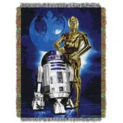 Star Wars Droid Blues Tapestry Throw