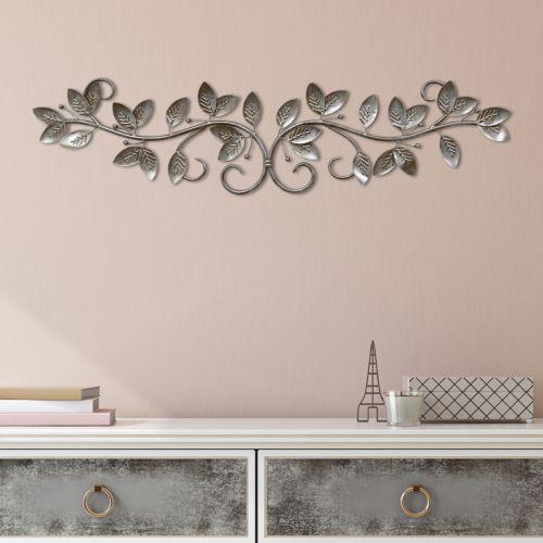 Stratton Home Decor Scroll Leaves Metal Wall Art