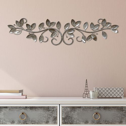 Stratton Home Decor Scroll Leaves Metal Wall Art