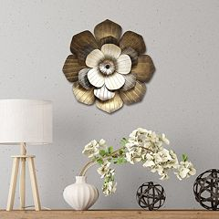 Stratton Home Decor Multi Flower Metal Wall Art