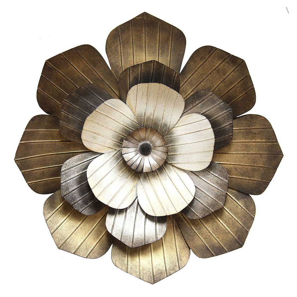 Stratton Home Decor Multi Flower Metal Wall Art