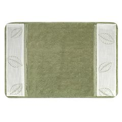 Popular Bath Fiji Banded Bath Rug
