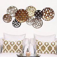 Stratton Home Decor Pattern Circles Metal Wall Decor