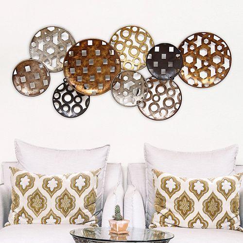 Stratton Home Decor Pattern Circles Metal Wall Decor