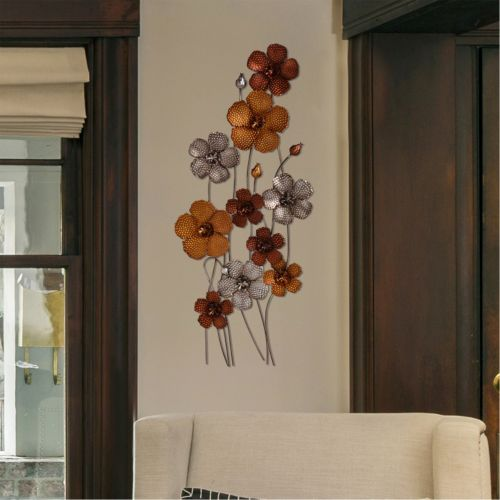 Stratton Home Decor Standing Flowers Metal Wall Art