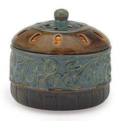Click here to buy Candle Warmers Etc. Azure Scroll Candle Aire Wax Melt Warmer.