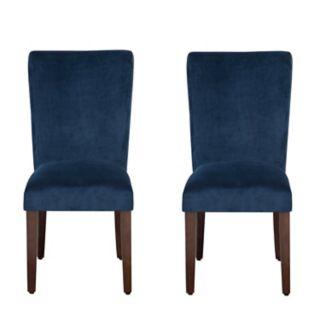 HomePop Velvet Dining Chair 2-piece Set