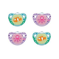 6-18 Months NUK 4-pk. Cute as a Button Sea Creatures Orthodontic Pacifiers