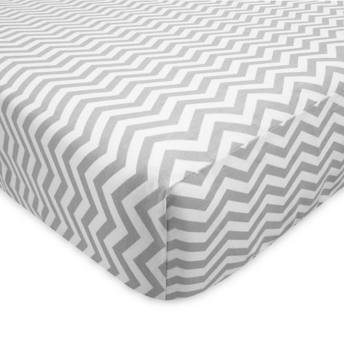 TL Care Flannel Fitted Crib Sheet