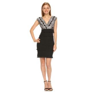 Women's Expo Tiered Lace Sheath Dress
