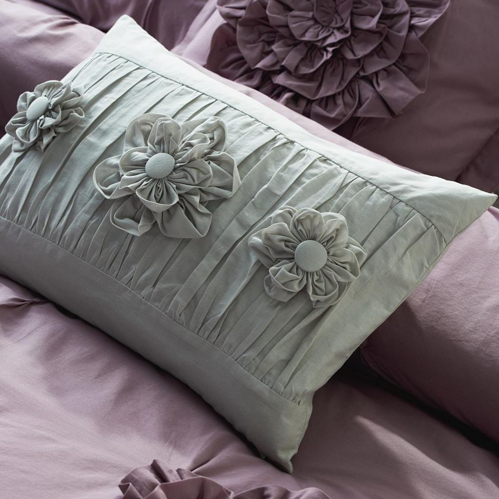 LC Lauren Conrad Ruched Triple Flower Decorative Pillow