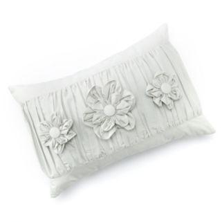 LC Lauren Conrad Ruched Triple Flower Decorative Pillow