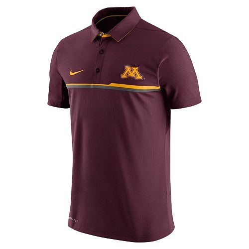 Men's Nike Minnesota Golden Gophers Elite Coaches Dri-FIT Performance Polo
