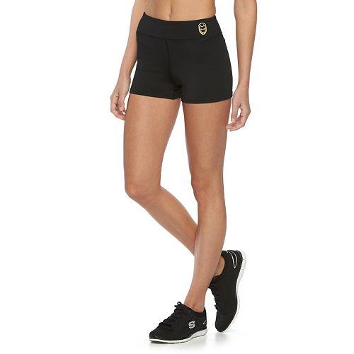 c34ba9b28121c7 Juniors' Marvel Iron Man Yoga Shortie Shorts