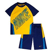 Boys 4-7 Nike Raglan Tee & Colorblocked Shorts Set