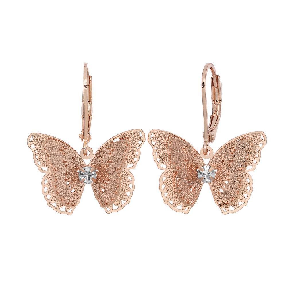 LC Lauren Conrad Butterfly Drop Earrings