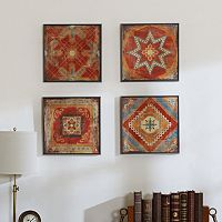 Madison Park Moroccan Tile Gel Coat 4 pc Wall Art Set