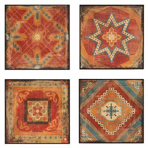 Madison Park Moroccan Tile Gel Coat 4-pc. Wall Art Set