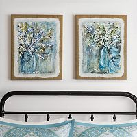 Madison Park Burlap Blossoms Gel Coat Canvas 2-pc. Wall Art Set