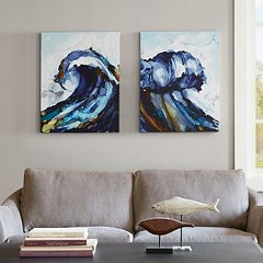 Madison Park Liquid Waves Gel Coat Canvas 2-pc. Wall Art Set