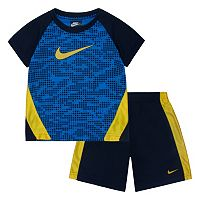 Boys 4-7 Nike Raglan Tee & Mesh Shorts Set