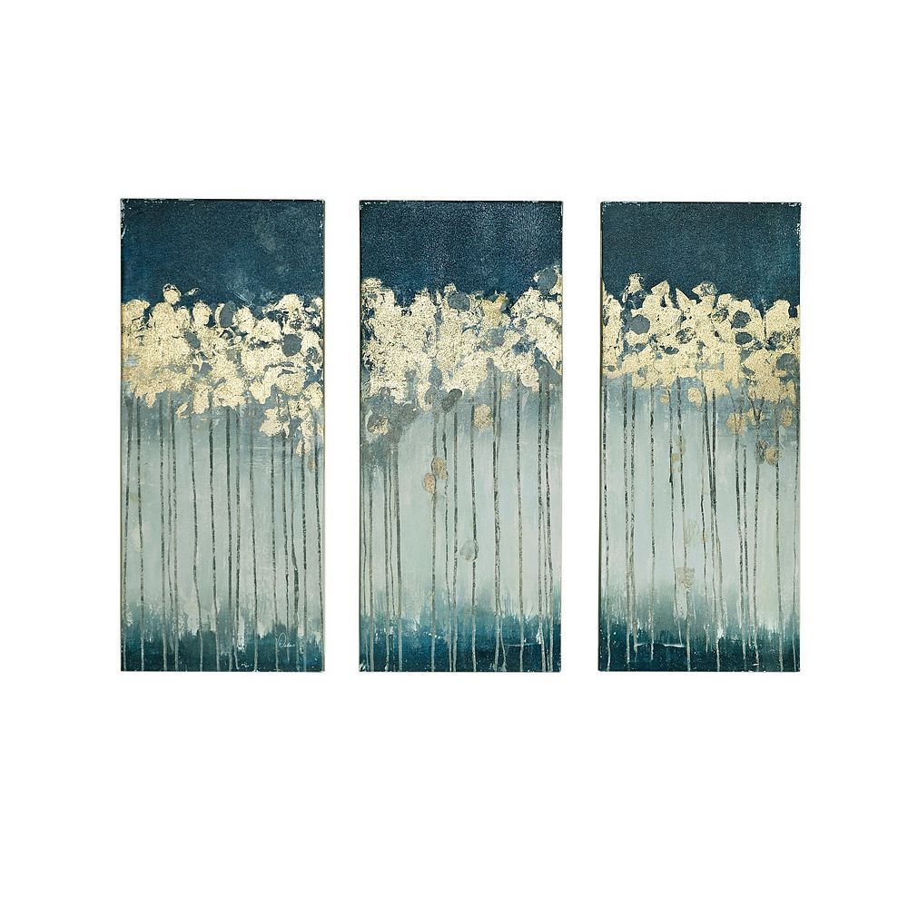 Canvas art wall decor home decor kohls buy1get150percentage madison park midnight forest gel coat canvas 3 pc wall art set amipublicfo Image collections