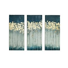madison park midnight forest gel coat canvas 3 pc wall art set - Home Decor Art