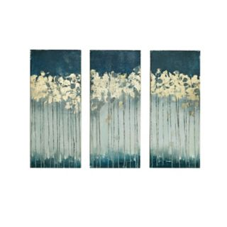 Madison Park Midnight Forest Gel Coat Canvas 3-pc. Wall Art Set