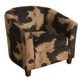 HomePop Cow Print Juvenile Accent Chair