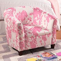 HomePop Cow Print Juvenile Accent Chair