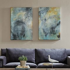 Madison Park Tranquility Gel Coat Canvas 2 pc Wall Art Set