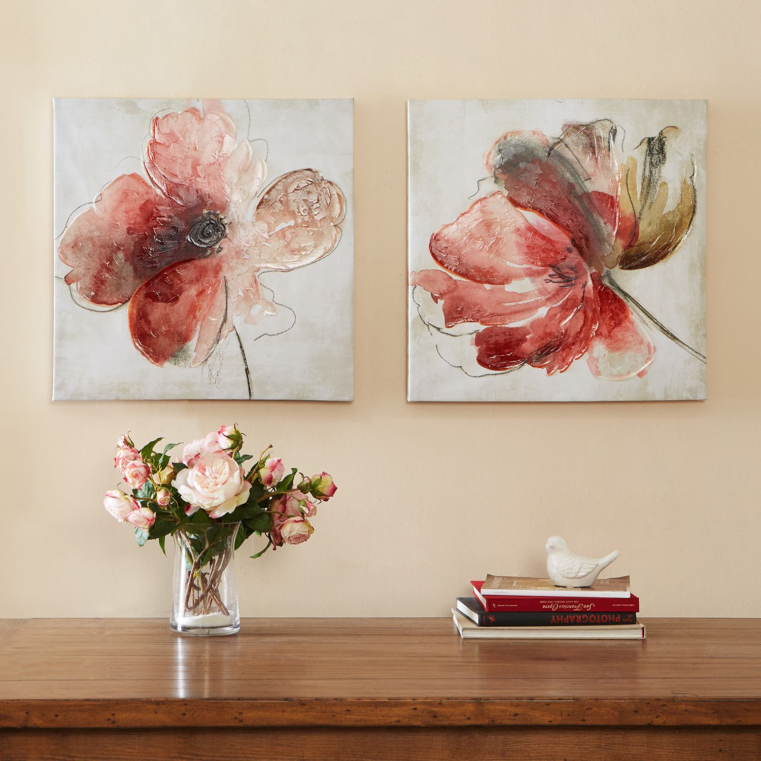 madison park lovely blossoms canvas 2pc wall art set