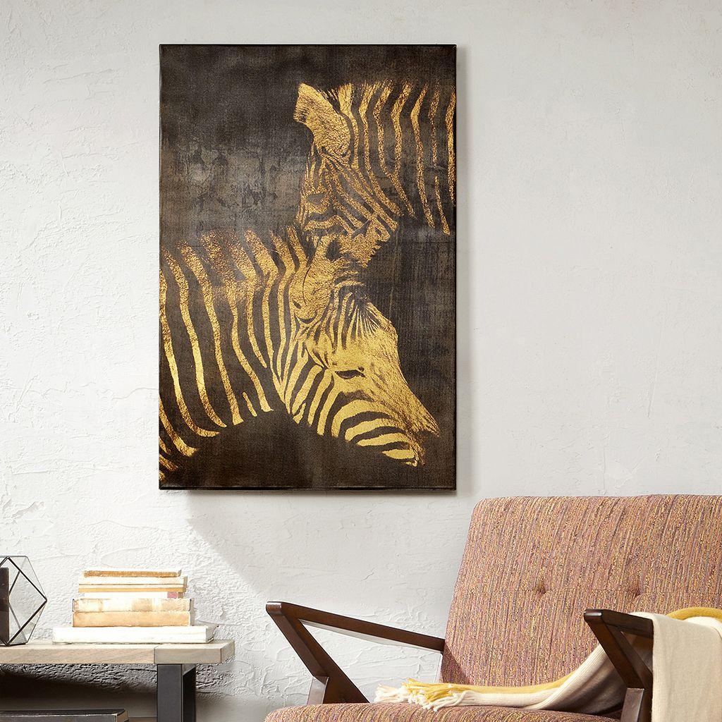 INK+IVY Lux Zebra Canvas Wall Art
