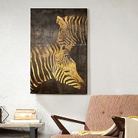 INK+IVY Lux Zebra Canvas Wall Art